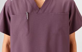 医療スクラブ(上着)両胸ポケット