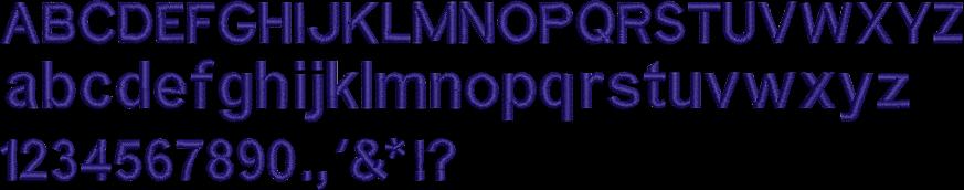 アルファベットゴシック体