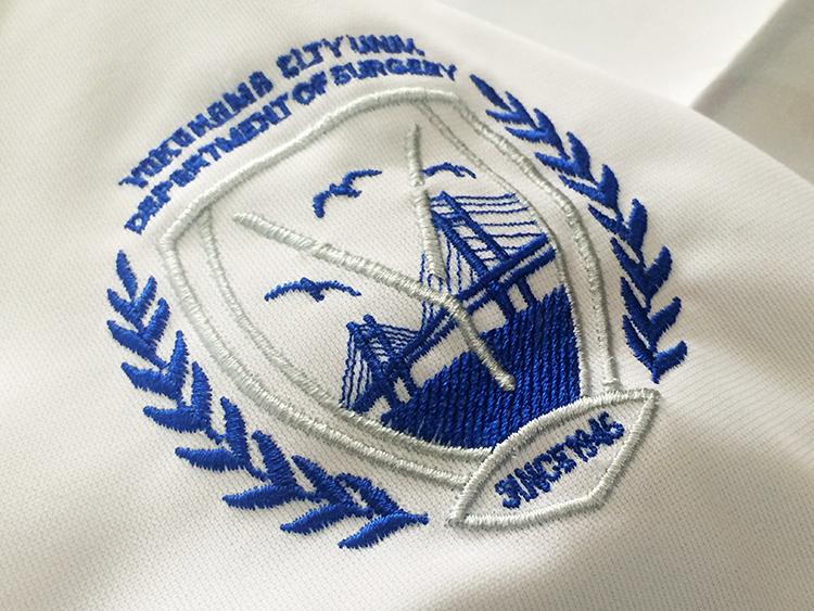 スクラブ・白衣 刺繍2