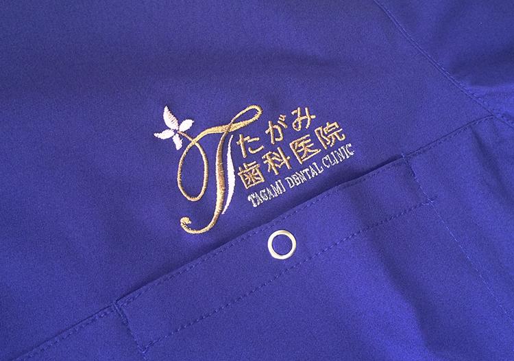スクラブ・白衣 刺繍3
