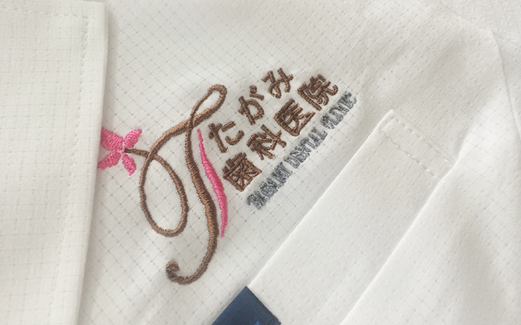 スクラブ・白衣 刺繍5